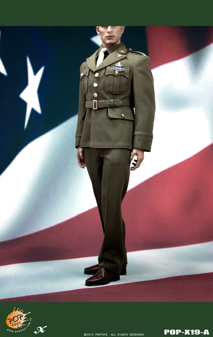 [POP-X19A] POP Toys WWII US Army Officer Uniform Set A in 1:6 Scale