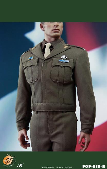 [POP-X19B] POP Toys WWII US Army Officer Uniform Set B in 1:6 Scale