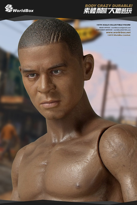 [WB-AT006] World Box Articulated Male Body with African American Character Head