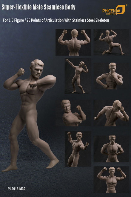 [PL-2015M30] Phicen Limited Super-Flexible Male Seamless Body with Stainless Steel Skeleton