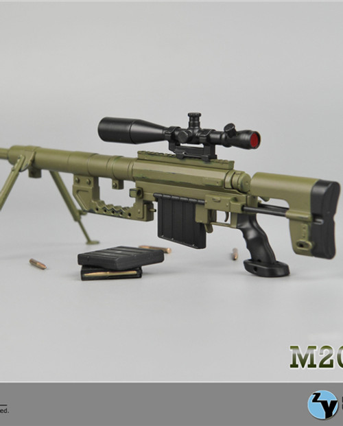 [ZY-15-12] ZY Toys 1:6 M200 Bolt-Action Sniper Rifle (Green Color)