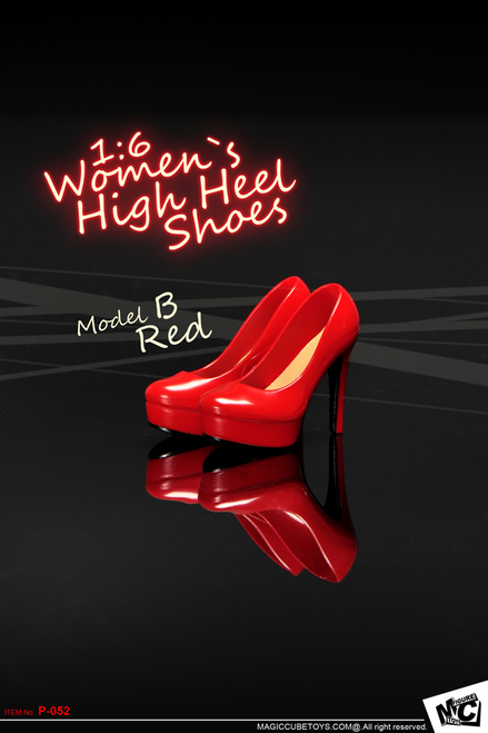 [MC-P052B] MC Toys 1:6 Scale Women`s High Heel Shoes in Red