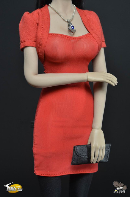 [TC-63001A] Toys City Female's Dress Set in Red Female Figure Accessory