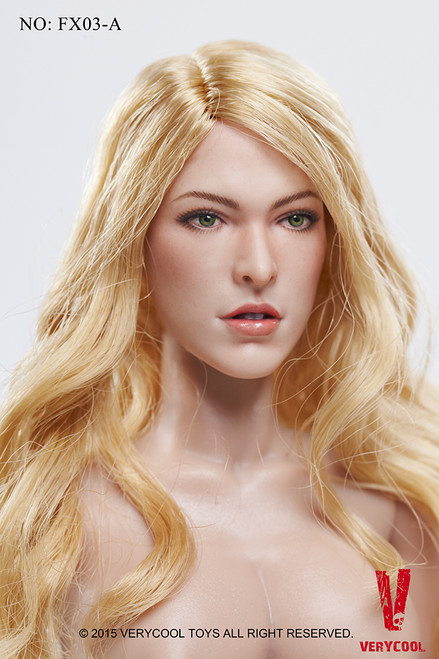 [VCF-X03A] Very Cool Female Body Version 3.0 with Blonde Hair Head Sculpt