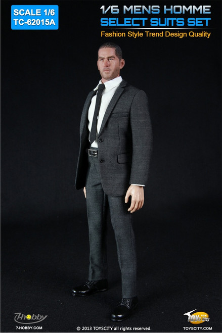 [TC-62015A] TOYSCITY 1/6 Mens Homme Select Suits Set in Grey