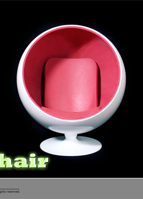 [ZY-15-29A] ZY Toys 1:6 Action Figure Egg Chair in White