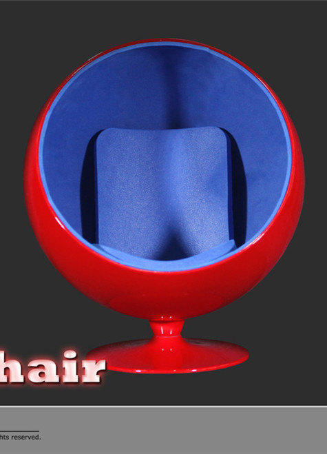 [ZY-15-29D] ZY Toys 1:6 Action Figure Egg Chair in Red