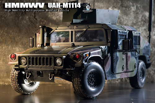 [GT-016-008-MVHUMC] Go-Truck 1:6 Scale HMMWV UAH-M1114 Camo Metal Vehicle