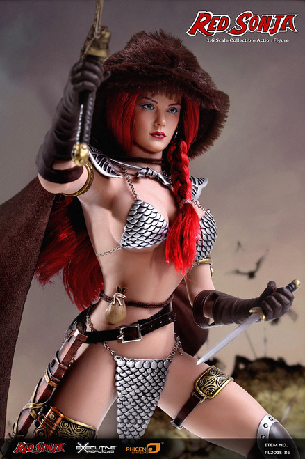 """[PL-2015-86] Phicen Limited She-Devil with a Sword """"Red Sonja"""" 1:6 Collector Comic Figure"""
