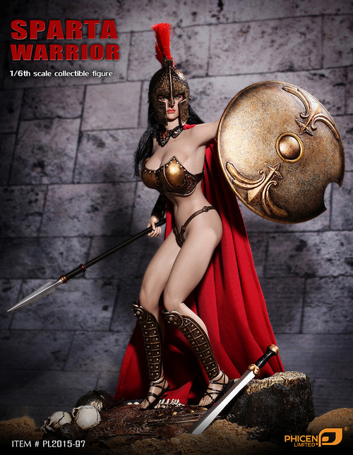 [PL2015-97] Phicen Limited Sparta Warrior 1:6 Collector Ancient Greece Female Figure