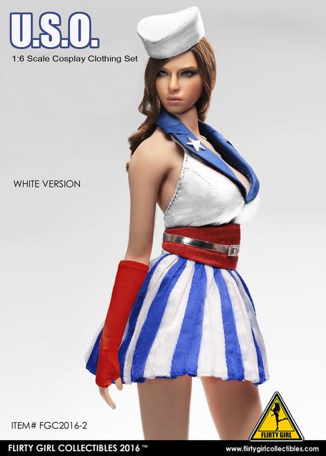 [FGC-2016-2] 1:6 Flirty Girl U.S.O. Cosplay Female Figure Clothing Set in White