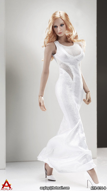 [AP-ATX014B] ACPLAY 1:6 Sleeveless Mermaid in White For Phicen Bodies