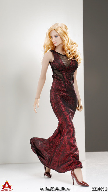 [AP-ATX014C] ACPLAY 1:6 Sleeveless Mermaid in Red For Phicen Bodies