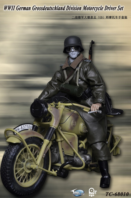 [TC-68010] Toys City  WWII German Grossdeutschland Division Motorcycle Driver Set