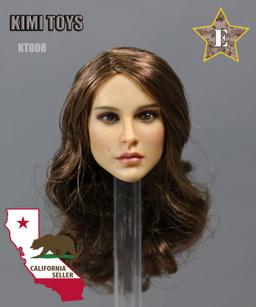 [KT-008] Kimi Toyz European and American Female Headsculpt for 1:6 Scale Figures