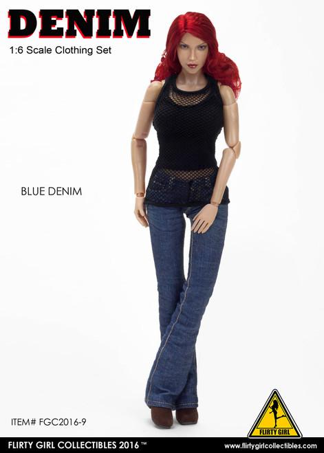 [FGC-2016-9] 1:6 Flirty Girl's Denim Fashion Clothing Set in Blue
