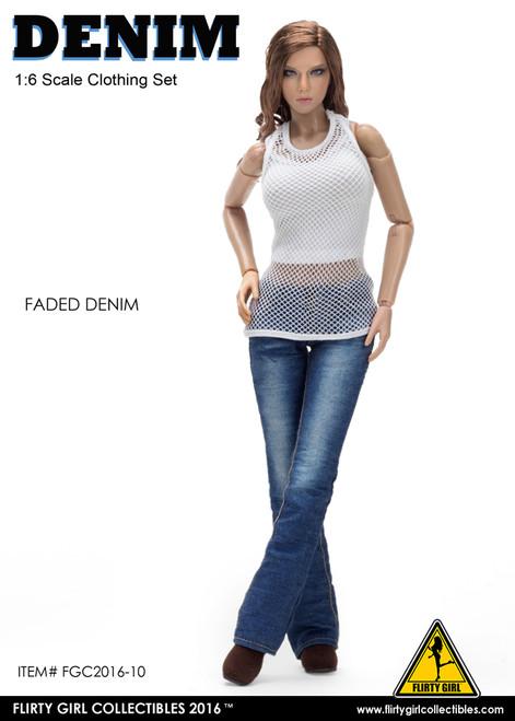 [FGC-2016-10] 1:6 Flirty Girl's Denim Fashion Clothing Set in Denim