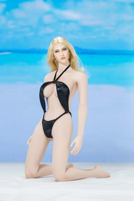 [AP-ATX016C] ACPLAY Swimming Suit in Black For 1:6 Female Bodies