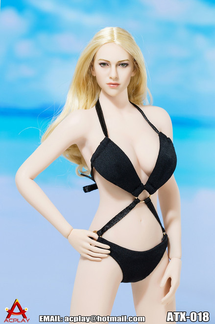 [AP-ATX018A] ACPLAY Swimming Suit V2 in Black For 1:6 Female Bodies