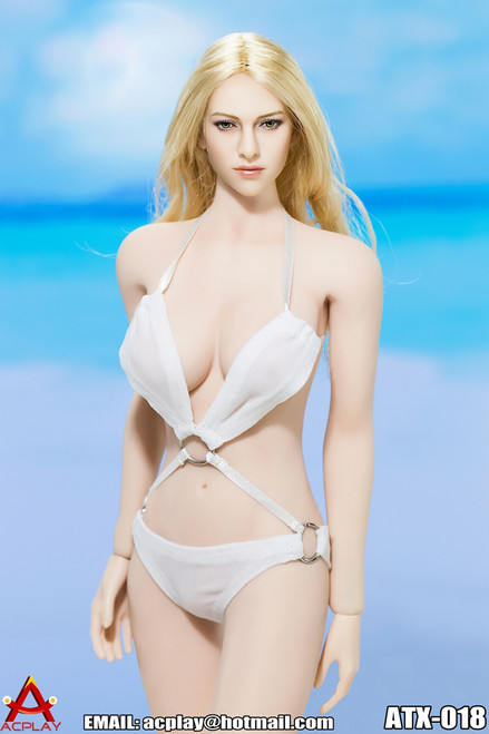 [AP-ATX018B] ACPLAY Swimming Suit V2 in White For 1:6 Female Bodies