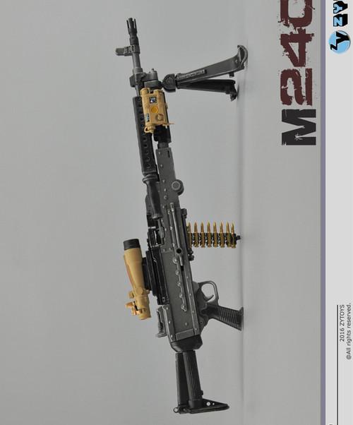 [ZY-16-9] ZY TOYS M240L Machine Gun in 1:6 Scale