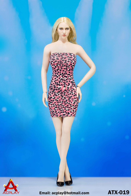 [AP-ATX019C] ACPLAY Pink Leopard Dress For 1:6 Female Bodies