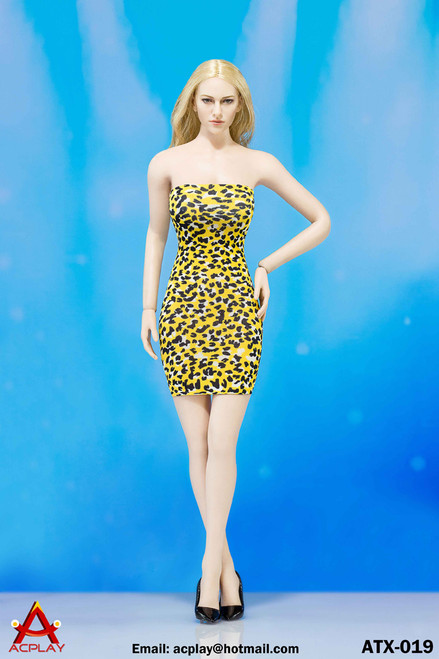 [AP-ATX019D] ACPLAY Yellow Leopard Dress For 1:6 Female Bodies