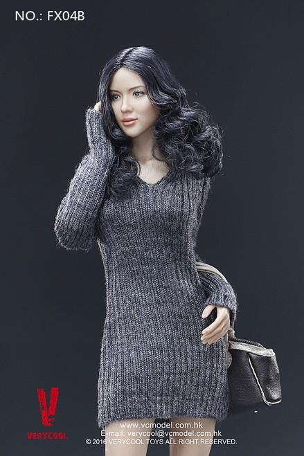 [VCF-X04B] Very Cool Black Curly Hair Headsculpt + VC 3.0 Female Body Set