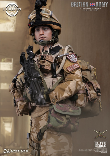 [DAM-78036] DAM Toys British ARMY In Afghanistan MINIMI Gunner Boxed Figure