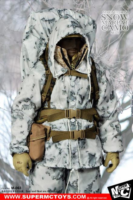 [MC-M063] Super MC Toys Marine Corps Snow Marpat Camo Set