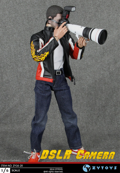 [ZY-16-20] ZY TOYS DSLR Camera Reporter Accessories for 1:6 Figure