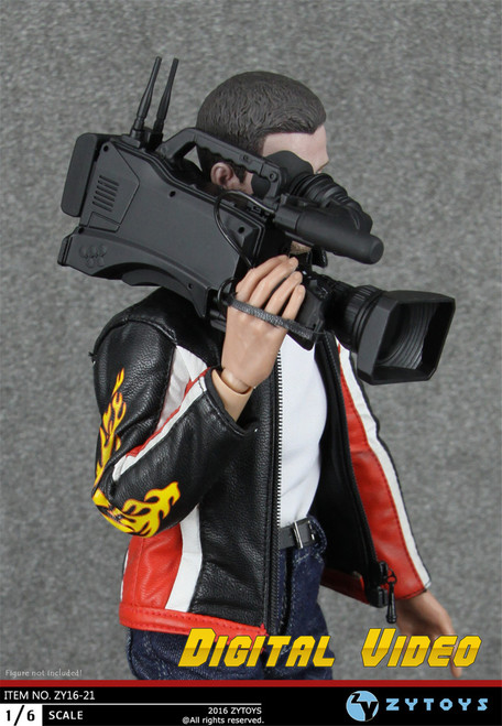 [ZY-16-21] ZY TOYS Camcorder Reporter Accessories for 1:6 Figure