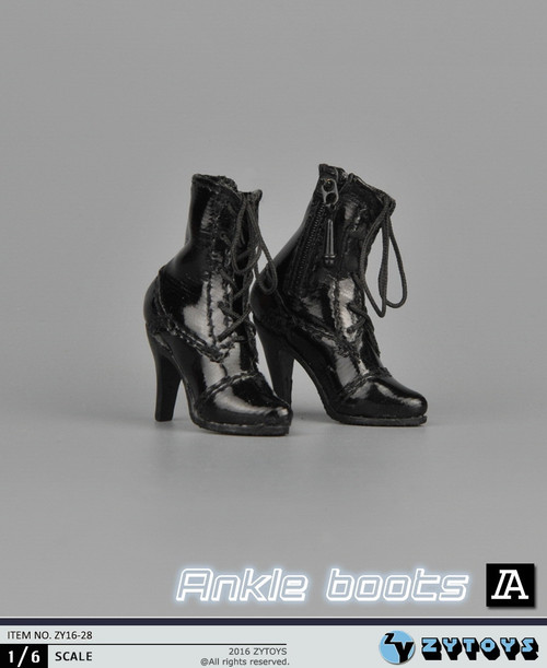 [ZY-16-28A] ZY Toys 1:6 Female Ankle Boots in Black