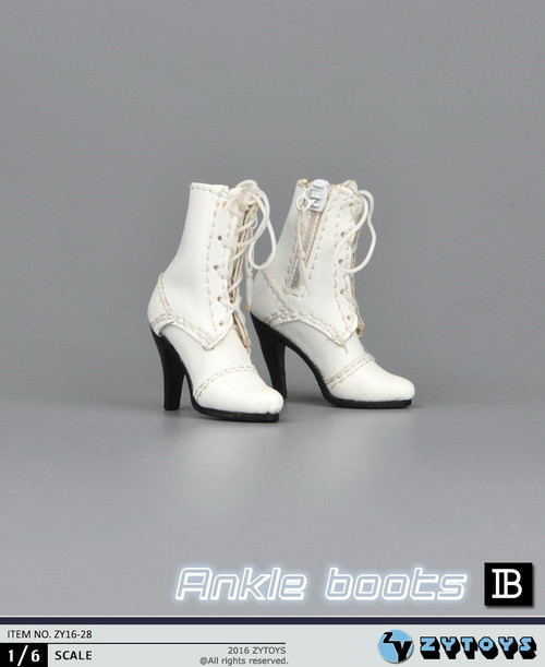 [ZY-16-28B] ZY Toys 1:6 Female Ankle Boots in White
