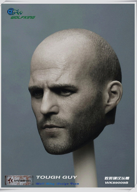 [WK-89009B] Wolf King 1:6 Tough Guy Action Figure Head