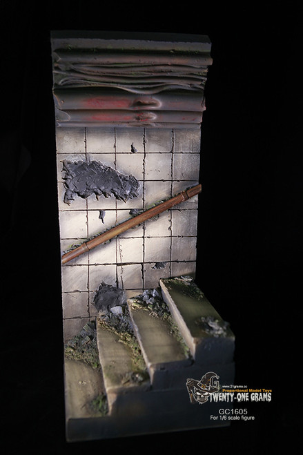 [GC1605] 21 Grams The Tunnel Ladder Ruins 1:6 Scale Figure Diorama