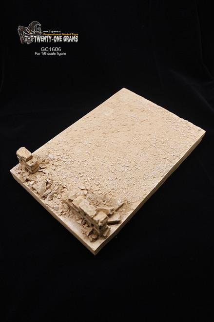 [GC1606] 21 Grams Broken Rubble Wall 1:6 Scale Figure Diorama