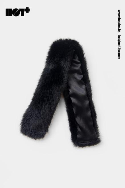 [HP-050F] Hot Plus Black Fur Cape for 1/6 Woman Figures