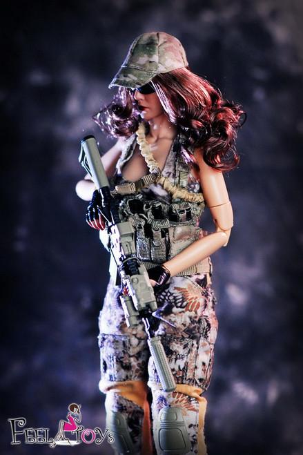 [FT003] Feel Toys 1/6 Female Commando Viper Camo Set for Female Figures