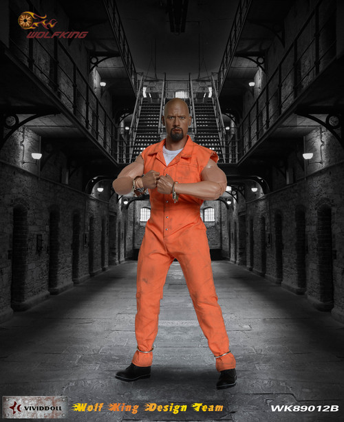 [WK-89012B] Wolf King 1:6 Inmate Jump Suit & Head Accessory Dao