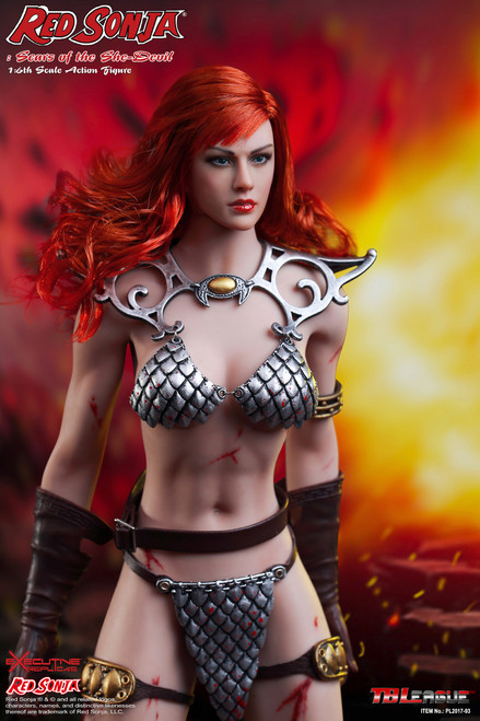 [PL2017-93] TB League Phicen Limited Red Sonja Scars of the She-Devil 1/6 Boxed Figure