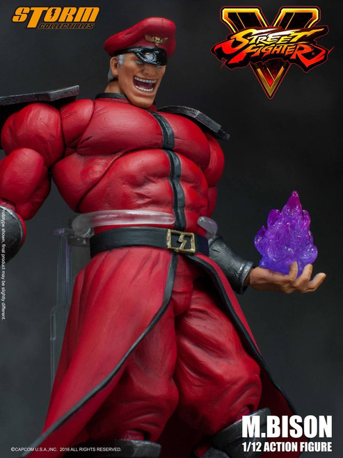 """[SM-31701] Storm Collectables 1/12 Street Fighter V M. Bison 7"""" Inch Tall Figure"""