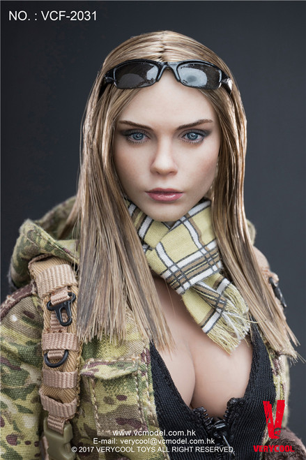 """[VCF-2031] Very Cool MC Camouflage Women Soldier """" Villa"""" 1:6 Boxed Figure"""