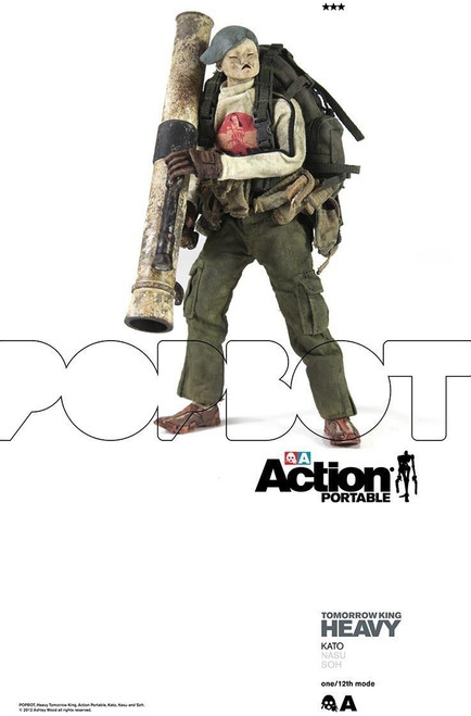 "[3A-HTK-KATO] THREEA Action Portable Heavy TK Kato 6"" 1/12 Figure"