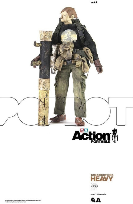 "[3A-HTK-NASU] THREEA Action Portable Heavy TK Nasu 6"" 1/12 Figure"