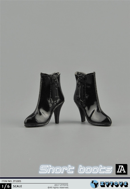 [ZY-1005A] ZY Toys 1:6 Female Hollow Ankle Boots in Black