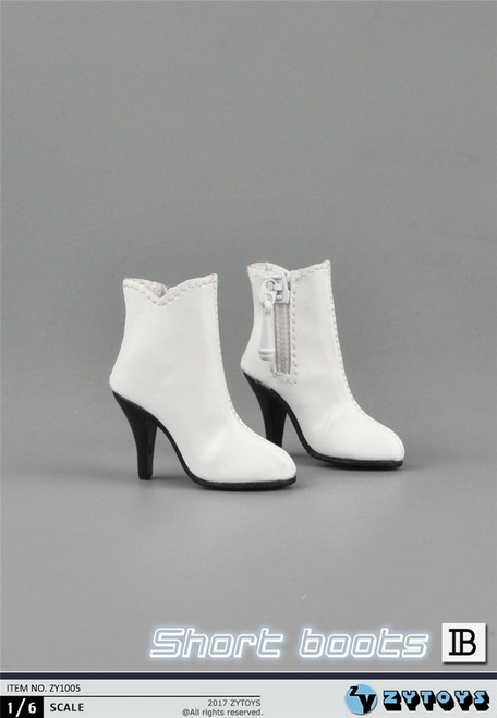 [ZY-1005B] ZY Toys 1:6 Female Hollow Ankle Boots in White
