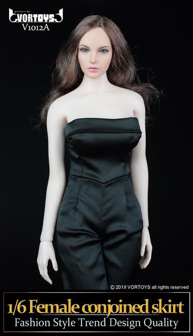 [VOR-1012A] VORTOYS 1/6 Women's One Piece Culottes in Black