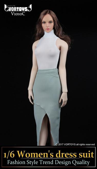 [VOR-1010C] VORTOYS 1/6 Women's Dress & White Turtleneck Bodysuit