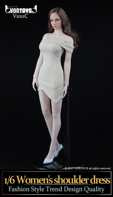 [VOR-1011C] VORTOYS 1/6 Women's Pale Shoulder Dress